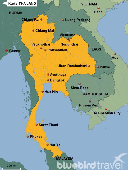 Thailand Karte.Stepmap Karte Thailand Landkarte Für Thailand