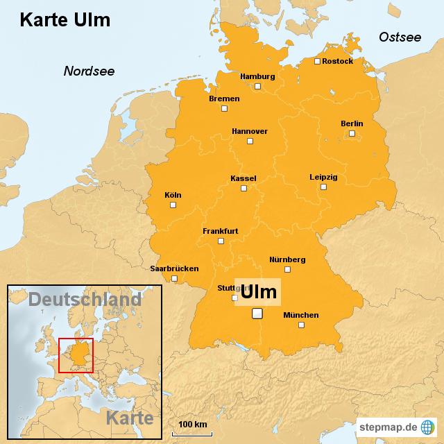 ulm karte StepMap   Karte Ulm   Landkarte für Deutschland