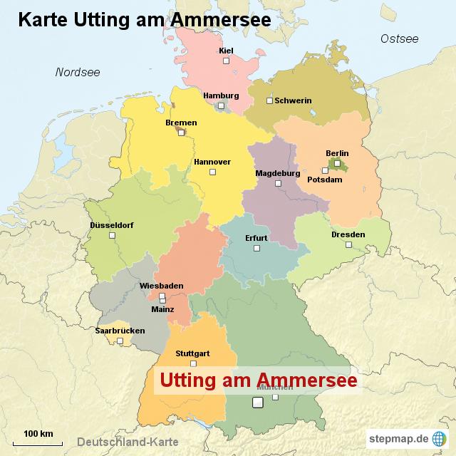 ammersee karte StepMap   Karte Utting am Ammersee   Landkarte für Deutschland