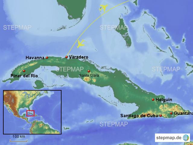 Karte Kuba Varadero.Stepmap Karte Varadero Havanna Landkarte Für Kuba