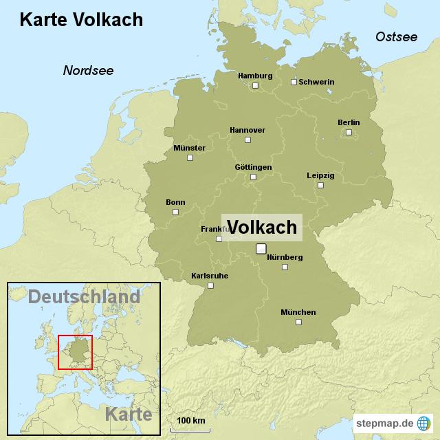 Stepmap Karte Volkach Landkarte Fur Deutschland