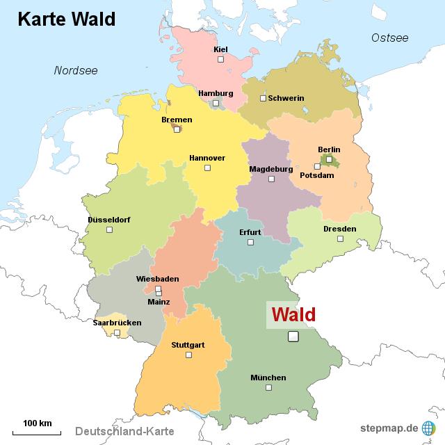 wälder in deutschland karte StepMap   Karte Wald   Landkarte für Deutschland wälder in deutschland karte
