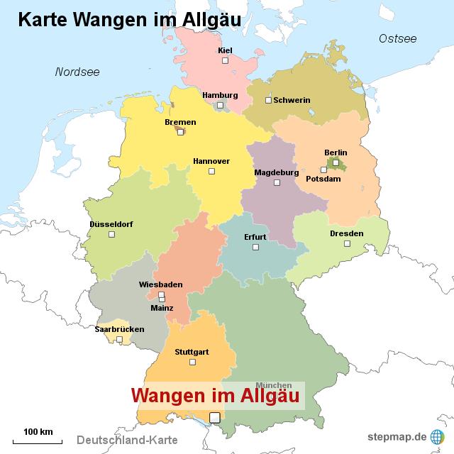 allgäu deutschland landkarte StepMap   Karte Wangen im Allgäu   Landkarte für Deutschland