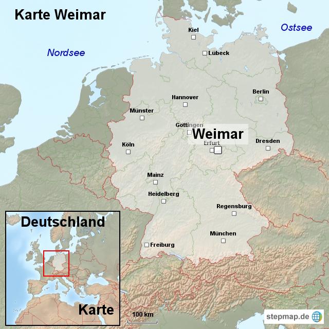 weimar karte StepMap   Karte Weimar   Landkarte für Deutschland weimar karte
