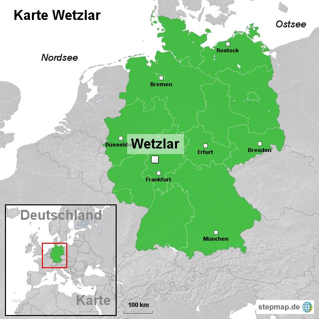 wetzlar karte StepMap   Karte Wetzlar   Landkarte für Deutschland wetzlar karte