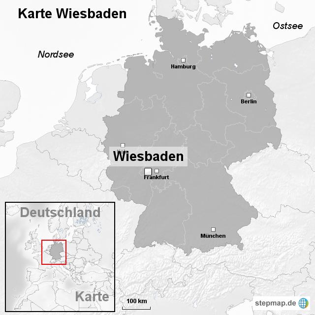 Wiesbaden Karte.Stepmap Karte Wiesbaden Landkarte Für Deutschland