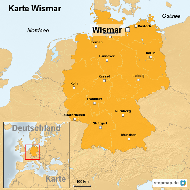 wismar karte StepMap   Karte Wismar   Landkarte für Deutschland