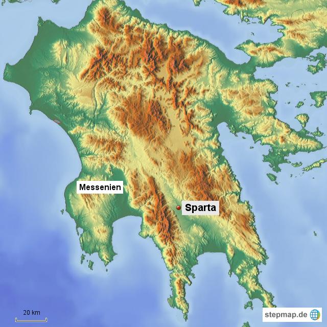 Griechenland Peloponnes Karte Deutsch.Stepmap Karte Der Peloponnes Landkarte Für Griechenland