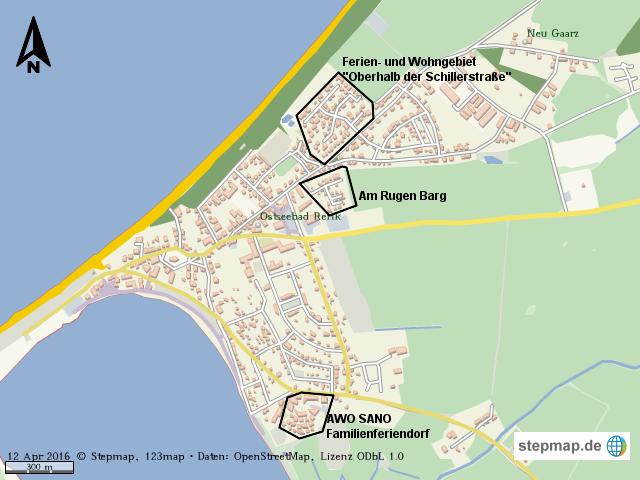 rerik karte StepMap   Karte der Stadt Ostseebad Rerik   Landkarte für Welt