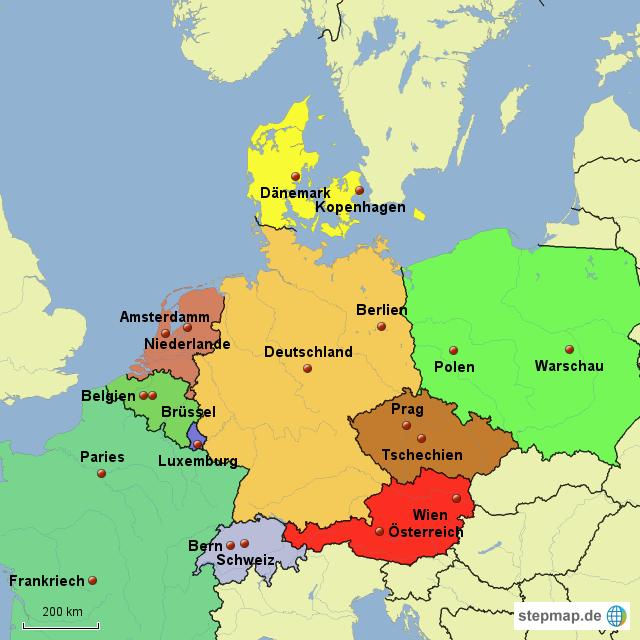 deutschland nachbarländer karte StepMap   Karte deutsche Nachbarländer LZ   Landkarte für Deutschland deutschland nachbarländer karte