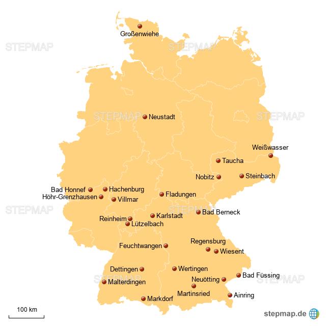 stepmap karte f r handwerk magazin landkarte f r deutschland. Black Bedroom Furniture Sets. Home Design Ideas