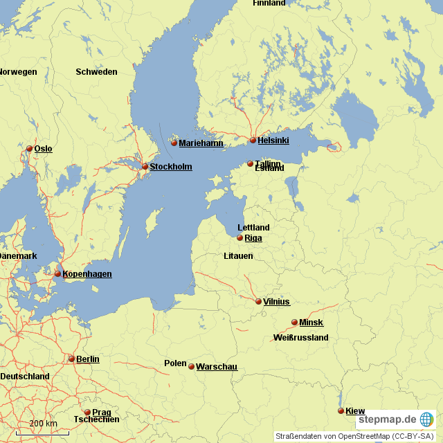 Ostsee Deutschland Karte.Stepmap Karte Ostsee Landkarte Fur Deutschland