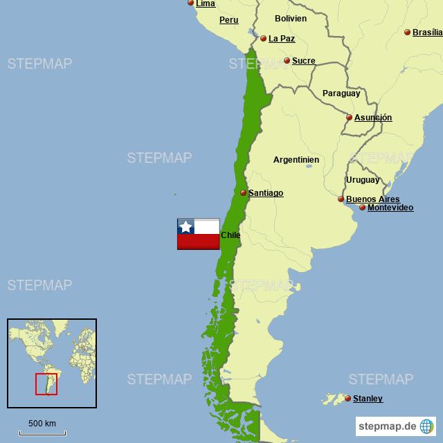 karte chile StepMap   Karte von Chile   Landkarte für Chile