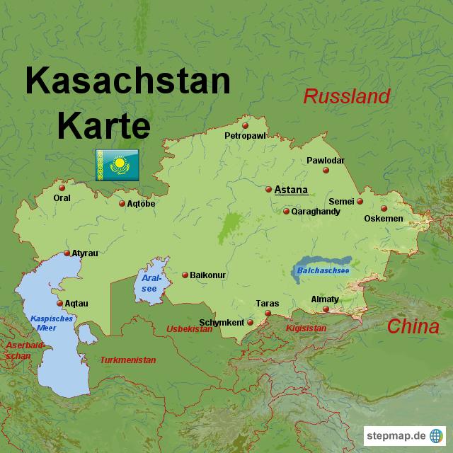 karte kasachstan StepMap   Kasachstan Karte   Landkarte für Kasachstan karte kasachstan