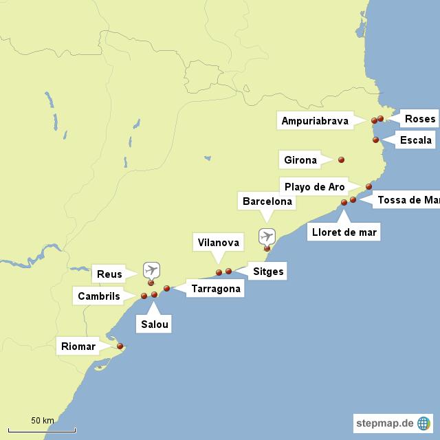 Spanien Katalonien Karte.Stepmap Katalonien Landkarte Für Spanien