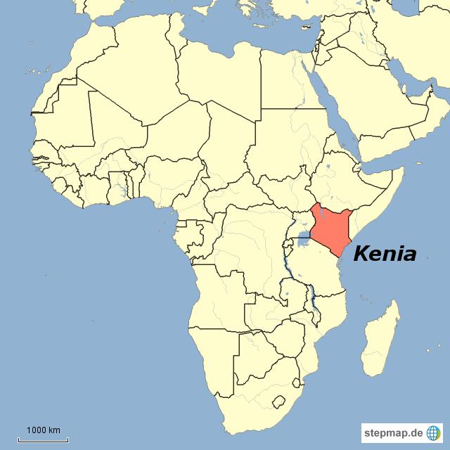 Kenia Karte.Stepmap Kenia Afrika Mit Grenzen Landkarte Für Kenia