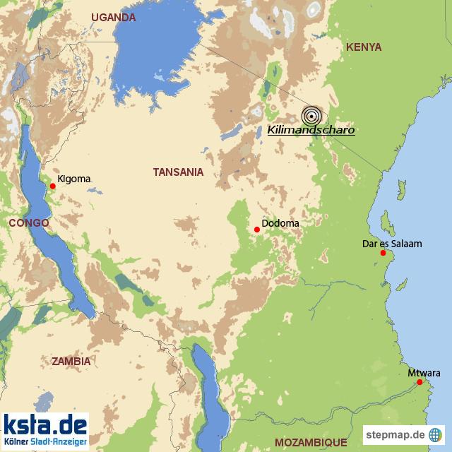 Stepmap Kilimandscharo Landkarte Fur Tansania