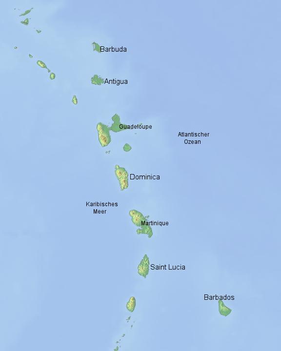 Kleine Antillen Karte.Stepmap Kleine Antillen Landkarte Fur Nordamerika