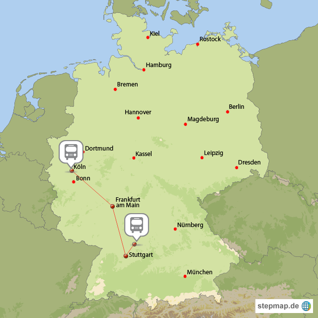 köln karte deutschland StepMap   Köln Reise   Landkarte für Deutschland köln karte deutschland