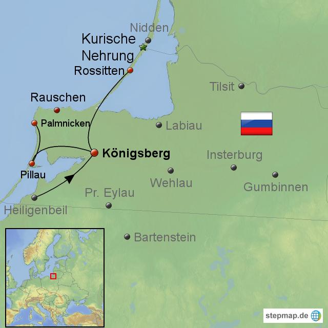 königsberg karte StepMap   Königsberg Ostpreußen   Landkarte für Europa
