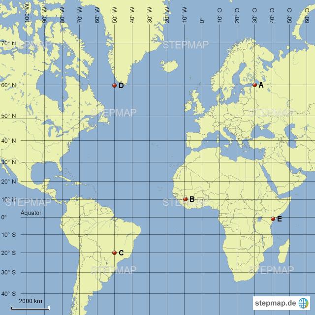 Koordinaten Karte.Stepmap Koordinaten Landkarte Für Deutschland
