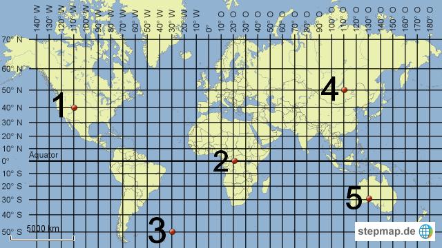 Koordinaten Karte.Stepmap Koordinaten Weltkarte Landkarte Für Deutschland