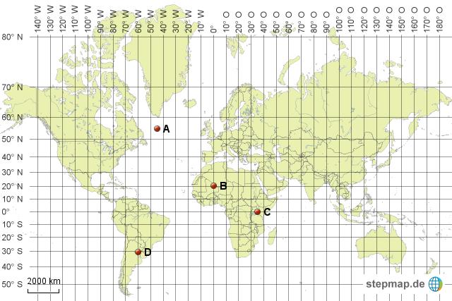 Koordinaten Karte.Stepmap Koordinaten Bestimmen B Landkarte Für Welt