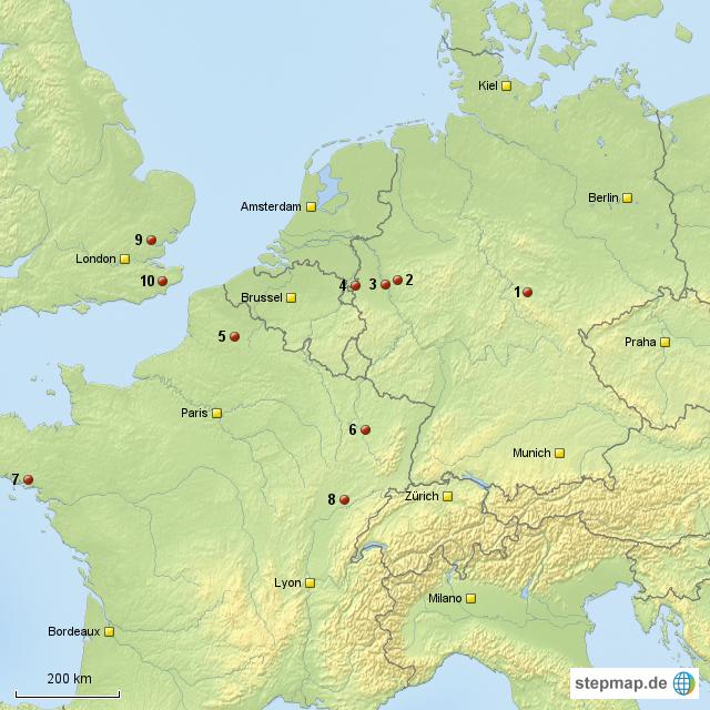 Deutschland Frankreich Karte.Stepmap Kopie Deutschland Frankreich Gb Landkarte Für Deutschland