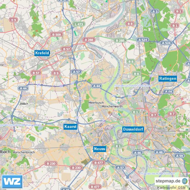 Krefeld Karte.Stepmap Kopie Template Westdeutsche Zeitung Region Düsseldorf Und