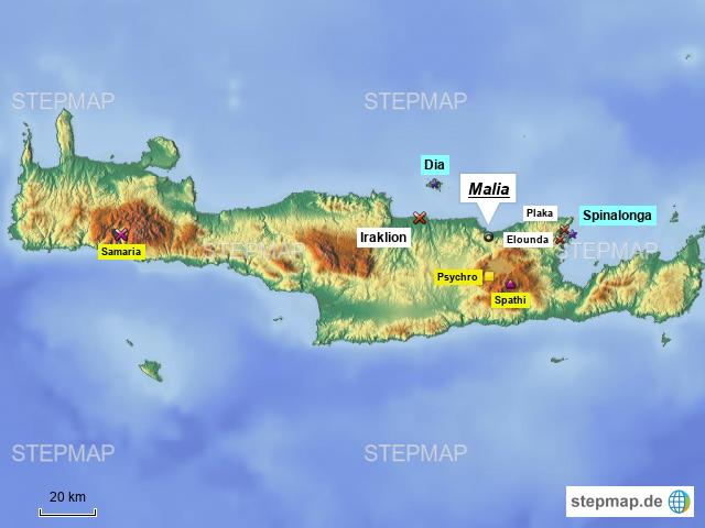 Griechenland Karte Kreta.Stepmap Kreta Landkarte Fur Griechenland