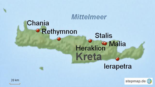 Kreta Karte Stalis.Stepmap Kreta Urlaubsziele Landkarte Für Griechenland