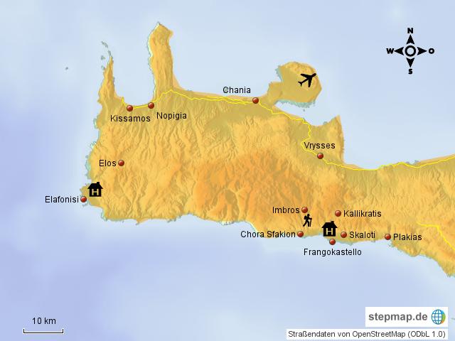 Griechenland Karte Kreta.Stepmap Kreta West Landkarte Fur Griechenland
