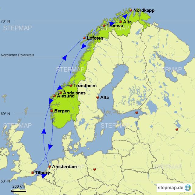 Stepmap Kreuzfahrt Auf Der Suche Nach Dem Polarlicht