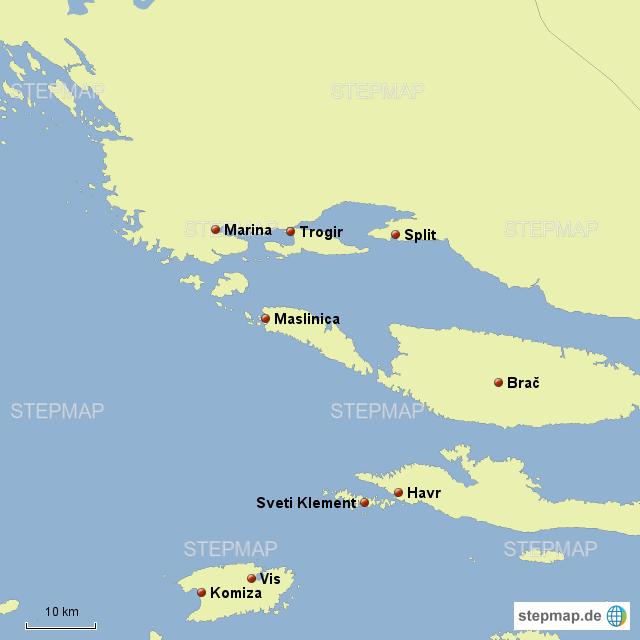 stepmap kroatien landkarte f r deutschland. Black Bedroom Furniture Sets. Home Design Ideas