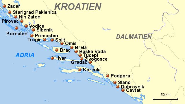 dalmatien karte StepMap   Kroatien,Dalmatien   Landkarte für Kroatien dalmatien karte