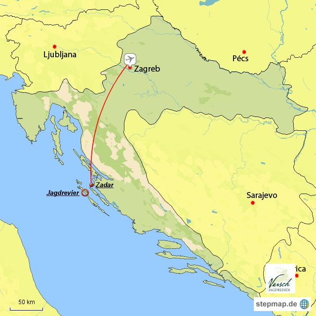 kroatien deutsch von versch landkarte f r kroatien. Black Bedroom Furniture Sets. Home Design Ideas