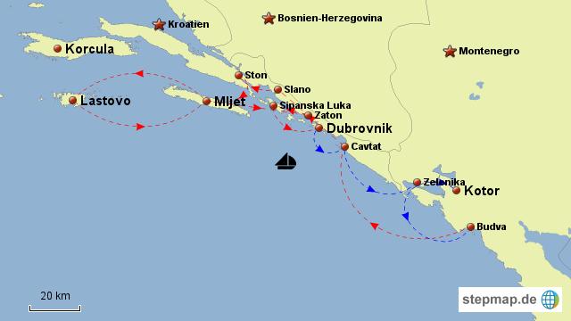 Karte Montenegro Kroatien.Stepmap Kroatien Montenegro Landkarte Fur Kroatien