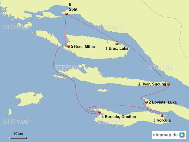 Taufspruch F303274r Karte.Kroatien Karte Split