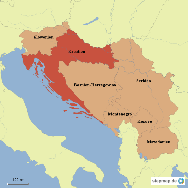 stepmap kroatien und die jugoslawischen nachfolgestaaten. Black Bedroom Furniture Sets. Home Design Ideas