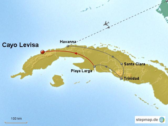 Carte Cuba Cayo Levisa.Stepmap Kuba 2014 Cayo Levisa Landkarte Fur Kuba