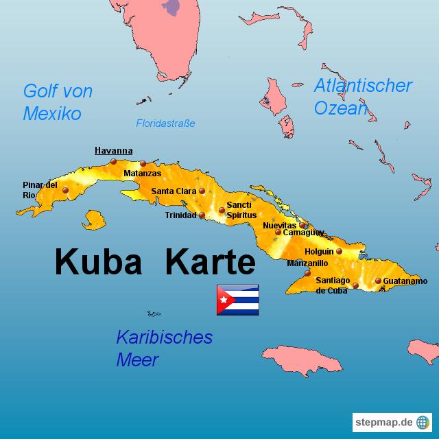 karte von kuba StepMap   Kuba Karte   Landkarte für Kuba karte von kuba
