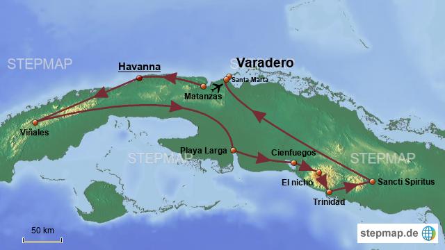 Karte Kuba Varadero.Stepmap Kuba Varadero Landkarte Für Kuba