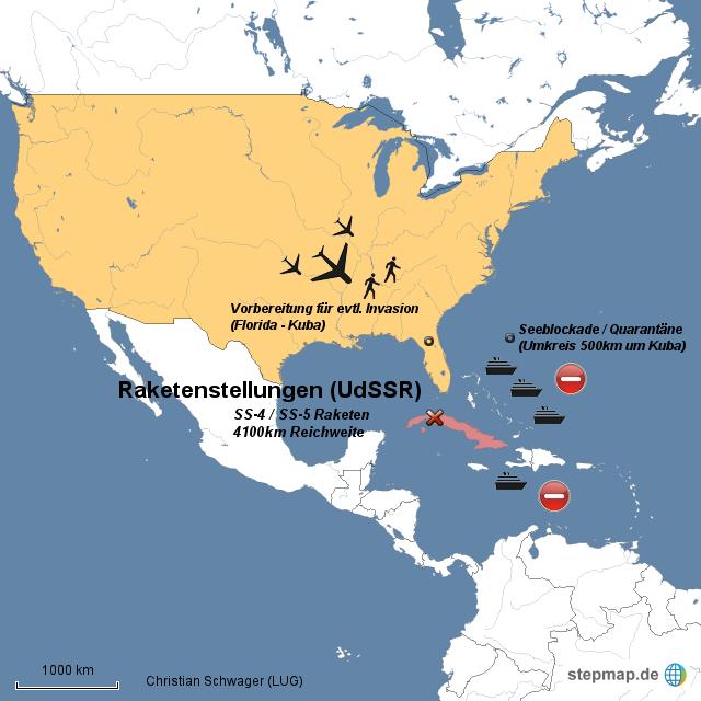 Stepmap Kubakrise Veranschaulichung Gfs Landkarte Fur