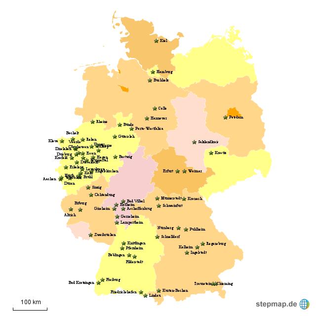 Stepmap Kundenkarte Landkarte Für Deutschland