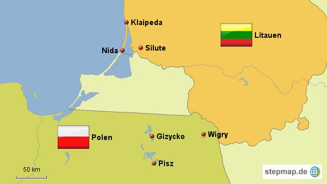 kurische nehrung karte StepMap   Kurische Nehrung   Landkarte für Litauen