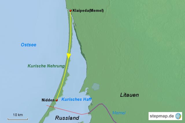 Kurische Nehrung Karte.Stepmap Kurische Nehrung Landkarte Für Litauen