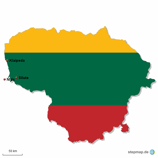 Kurische Nehrung Karte.Stepmap Kurische Nehrung Karte 6 Landkarte Fur Litauen
