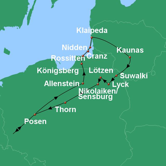 Kurische Nehrung Karte.Stepmap Kurische Nehrung Masuren Konigsberg Landkarte