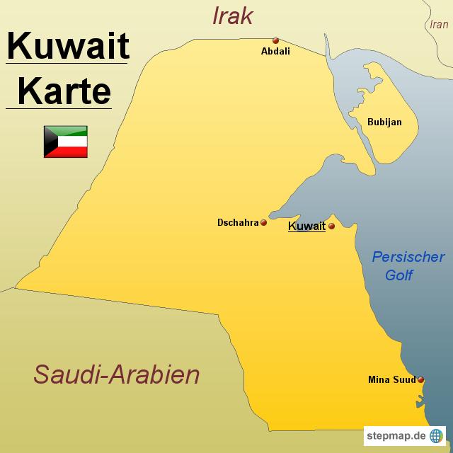 kuwait karte StepMap   Kuwait Karte   Landkarte für Kuwait kuwait karte