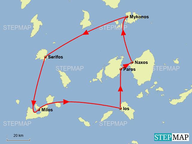 Kykladen Karte.Stepmap Kykladen Landkarte Für Griechenland
